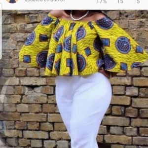 Beautiful African print top.